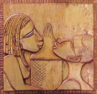 Bas-relief d'inspiration Africaine
